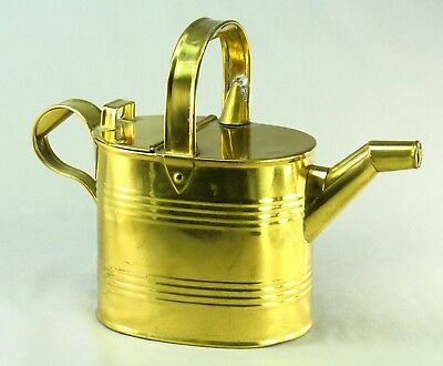 ! Antique 1800's ARMY & NAVY CSL London Brass Watering Can Hot Maid's Water Pot