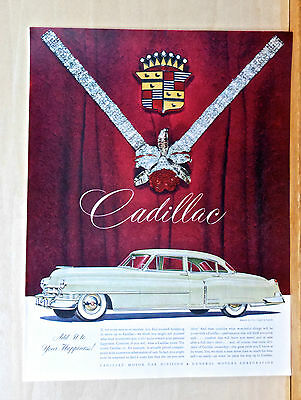 1950 magazine ad for Cadillac - Add it to your happiness! two door car