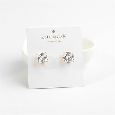 a84aa398ad7221 KATE SPADE NEW York Mini Small Square Stud Earrings Clear Gold Tone ...