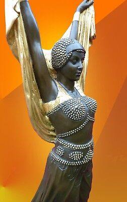 LARGE ART DECO BRONZE SALOME STATUE SIGNED Chiparus FIGURE HOT CAST FIGURINE