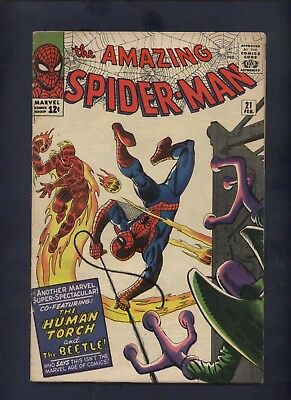 Amazing Spider-man 21 Ditko  art  2nd Beetle marvel silver age comic
