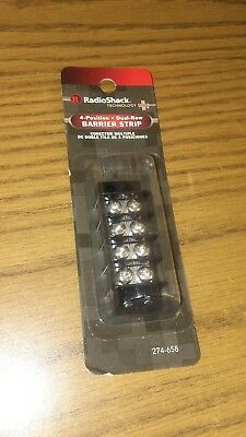 RadioShack 4 Position Dual Row Barrier Strip #274-658 New; Free shipping