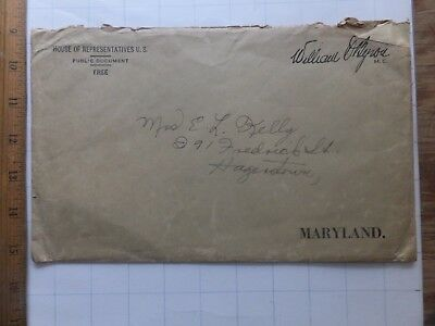 1930's/40's Envelope, William Byron (MD) House of Representatives. Air victim.