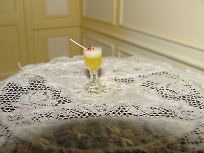 Dollhouse Miniature Mixed Drink in Glass