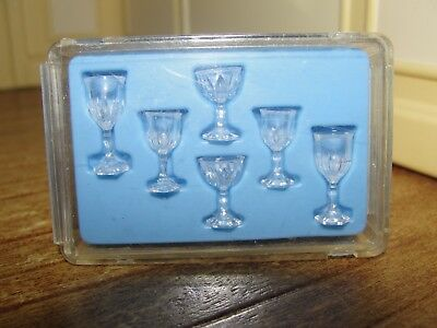 Dollhouse Miniature Set of 6 Wine Glasses  by Chrysnbon  MIC