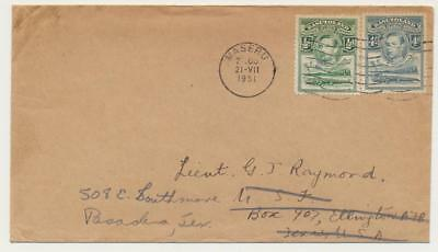 "BASUTOLAND -USA 1951,""PARIS EVANGELICAL MISSION"" COVER+LETTER 4½d RATE(SEE BELOW"