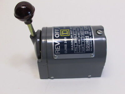 Square D Ag-2 Reversing Drum Switch Size 0 Single Pole 115/230 Volts 1-1/2 Hp Ma
