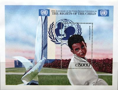 GHANA 1999 Block 384 S/S 2137 Rights of the Child UNO Konvention Rechte Kind MNH