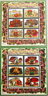 GHANA 2000 Klb 3107-18 MS 2178-79 Mushrooms Fungi Pilze Flora Nature MNH