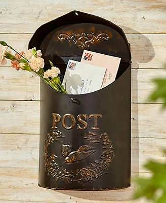 Decorative Metal Postboxes Storage Solution Ready to Hang Front Porch Entryway