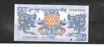 Bhutan #27 2006 Mint Crisp Ngultrum Banknote Bill Note Currency Money
