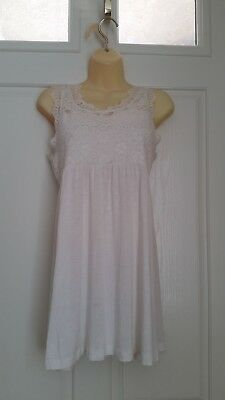 793ae98059 FOREVER 21 WHITE ivory lace strapped floral elegant dress size S ...