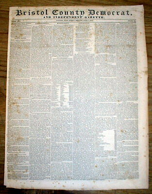 1844 newspaper JAMES KNOX POLK Nominated by DEMOCRATS as candidate fr PRESIDENT