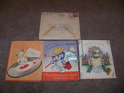 LOT OF THREE Birthday Greetings Sent To PRIVATE E. D. LOVERN JR. Fort Jackson SC
