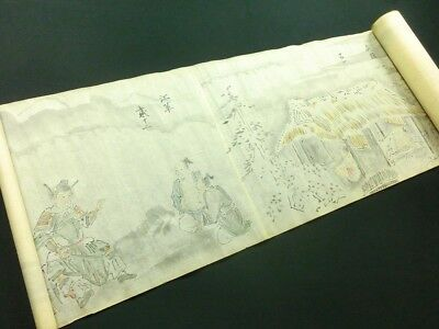 12 of The 24 Filial Exemplars Japanese Painting Scroll Hand Painted China *979