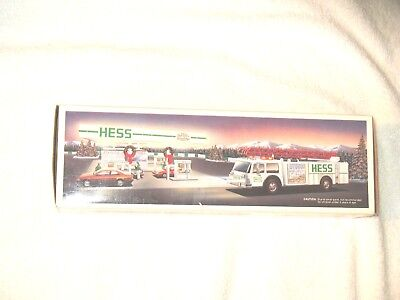 New In Box 1989 Hess Toy Fire Truck With New Batteries