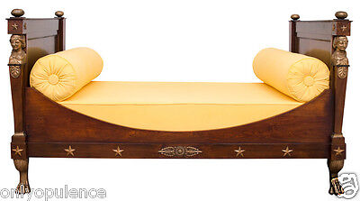 VERY REGAL & IMPOSING ANTIQUE FRENCH EMPIRE BED, ca. 1820, ABSOLUTELY GORGEOUS!!