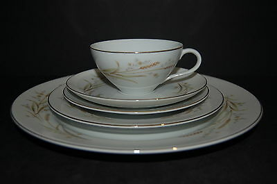 Fine China of Japan Golden Harvest 5 Piece Place Setting