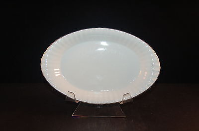 Paragon Ribbed White Gold 498 Relish Gravy Boat Underplate