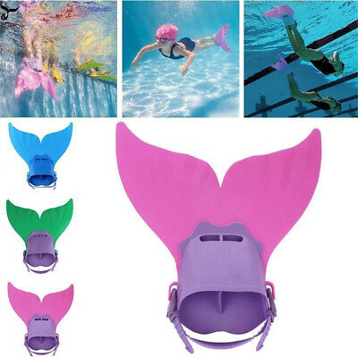 Kids Children Fin Mermaid Monofin Tail Flipper Swimwear Tools for Swimming pool