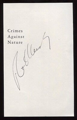 Robert F. Kennedy Jr. Signed Book Page Cut Autographed Signature