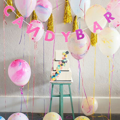 Candy Bar Felt Bunting Banner Wedding Birthday Party Hanging Decor 3 Meters