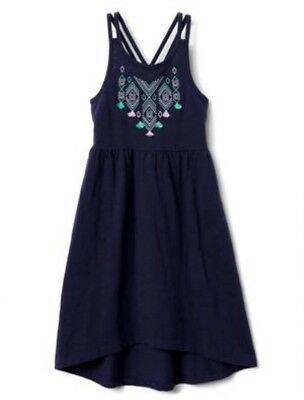 NWT Gymboree Jump into Summer Girls Aztec Embroidered Knit Dress Xs 4