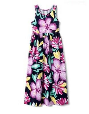 NWT Gymboree Jump into Summer Girls Flower Floral Maxi Knit Dress S 5 6
