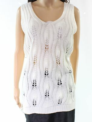Urban Day NEW White Ivory Women's Size Small S V-Neck Tunic Sweater $42 #873