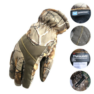 Unisex Winter Warm Gloves Full Finger Thermal Waterproof Hunting Camping Ski