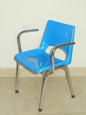 Ancienne Chaise Enfant Design Vintage Ecole Industrielle Loft Old Child Chair