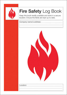Click Medical Fire Safety Log Book Q4127 Health and Safety Work Place Business