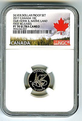 2017 Canada 150Th Anniv Proof 10 Cent Wings Of Peace Ngc Pf70 First Release Dime
