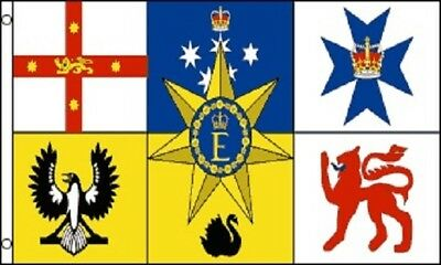 3x5 Royal Standard of Australia Flag Queen Elizabeth Australian Coat of Arms