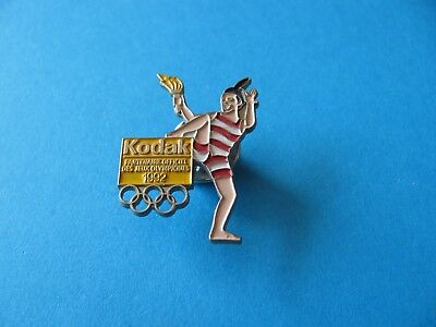 KODAK Olympic Torch 1992 Pin Badge. VGC. Enamel. Sponsor.