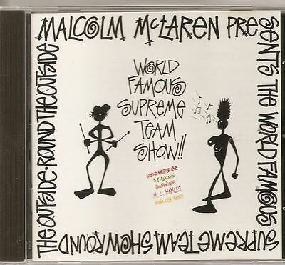 MALCOLM McLAREN World Famous Supreme Team Show!! 1990 VIRGIN CD ALB