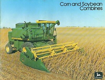 1976 John Deere CORN AND SOYBEAN COMBINES  Illustrated Catalog Brochure 47 Pages