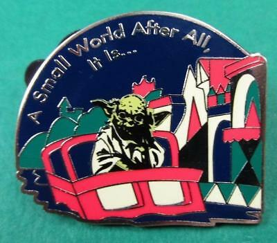 """Disney Pin Yoda  """"A Small World After All, It Is"""" Star Wars Characters on Rides"""