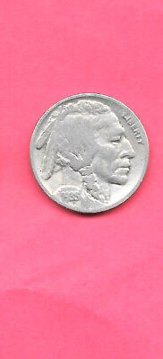 Us United States Buffalo Nickel 1935 Antique Fine-Nice Old Vintage 5 Cent Coin