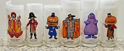 Set of 6 McDonaldland Glasses Collector Series 1977