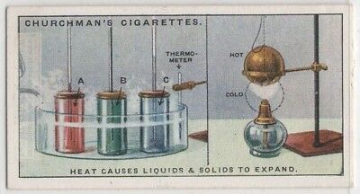 Heating Liquid Solid Expansion Science Experiment 1920s Trade Ad Card