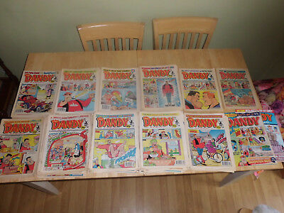 176 Mxed vintage Dandy Comics from 1987 to 2007 - Mostly 80's and 90's - Job Lot