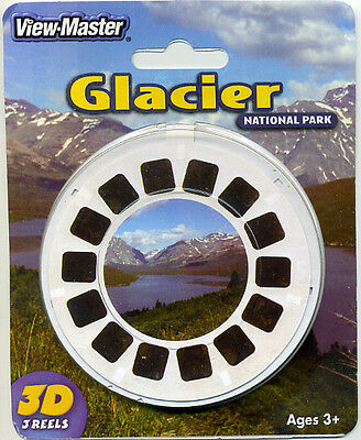 GLACIER National Park Montana View-Master 3-Reel Packet Sealed Mint
