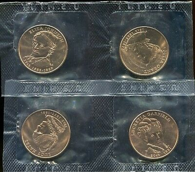 2011 First Spouse Bronze Medal Series 4 medal set in Government issued envelope