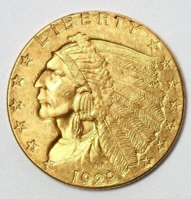 1929 $2.50 Indian Head Gold Coin * Quarter Eagle * FREE SHIPPING