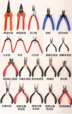Jewellery Making Tools Beading Pliers Round Flat Wire Side Cutters Kit Hot
