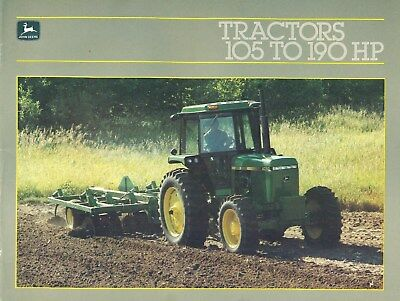 1985 John Deere TRACTORS 105 TO 190 HP Illustrated Dealer Catalog 39 Pages