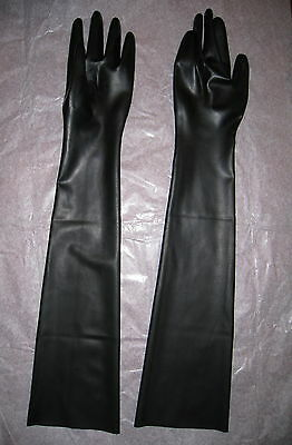 Latex Handschuhe lange Schwarz Black Gloves Gr. S M L XL