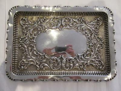Edwardian Sterling Solid Silver Dressing Tray 1906 (256g)