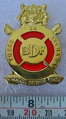 BOTSWANA AFRICA ARMY DEFENCE FORCE OFFICERS AFRICAN CAP BADGE with RED centre